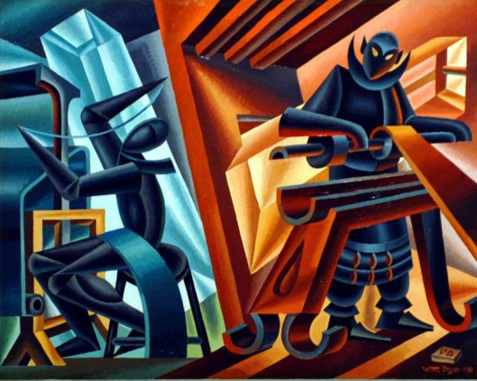 "FORTUNATO DEPERO ""TORNIO E TELAIO"" *** Local Caption *** 00062966"