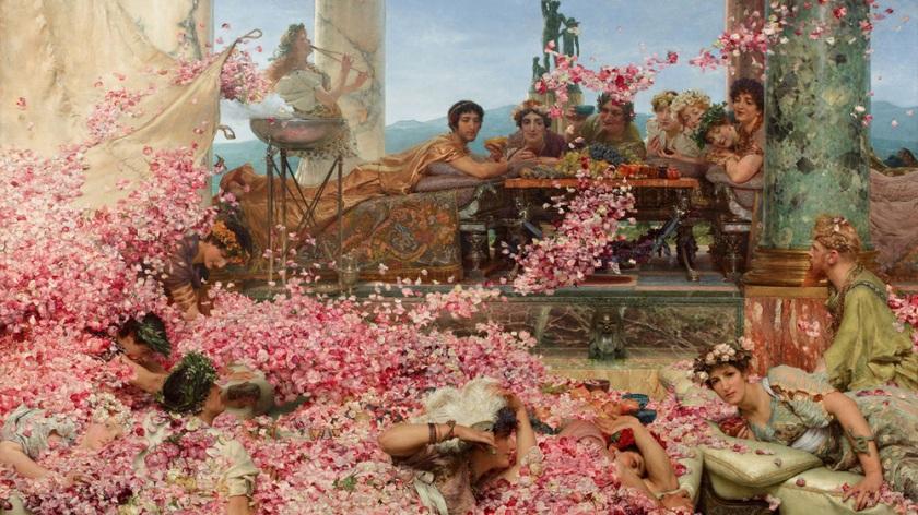 è una celebrazione della vita ingenua e fragile come i petali di rosa di Eliogabalo