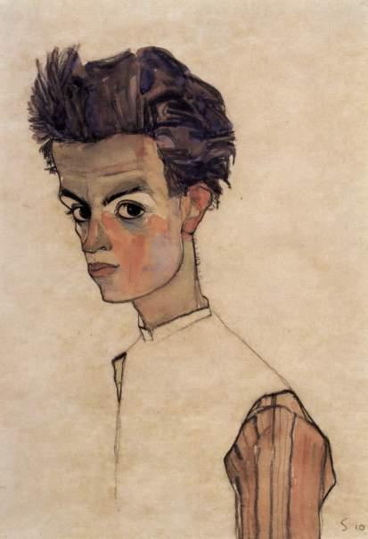 Egon Schiele è un artista che si costruisce man mano che l'opera prende vita.