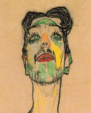 I soggetti di Schiele non hanno occhi, ma sono Occhi. Sono sguardi nostalgici e melanconici che si lanciano