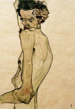Il primo impatto che si ha con le figure muscoli e ossa di Egon Schiele è una sensazione di disagio,