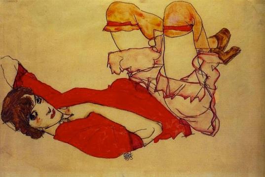 Schiele, Wally in Red Blouse 1913.jpg