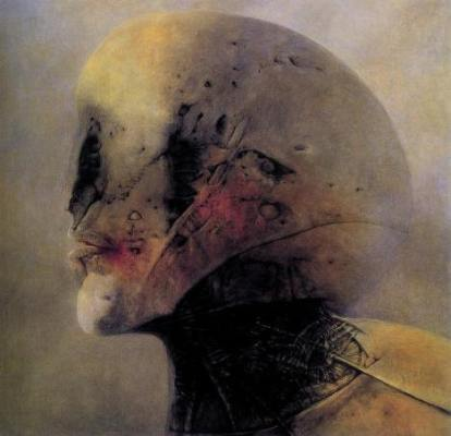 I volti sparsi nel nulla sono mutilati, senza respiro