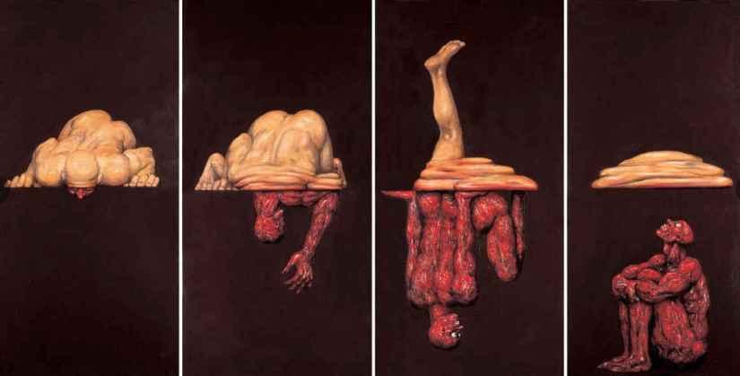 Un luogo dove ci si nutre di sofferenza, Dove viene evocato il decadimento del corpo, la fragilità della carne e al contempo