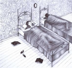1 Se ne sta sul proprio letto,
