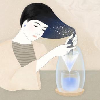 Attraverso i suoi occhi percepiamo il conforto e l'incanto di quella bolla che la separa dal mondo