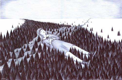 Una passata di carbone e i colori svaniscono, lasciando il posto ad un altro mondo in bianco e nero, fatto di pallore, buio e rancore