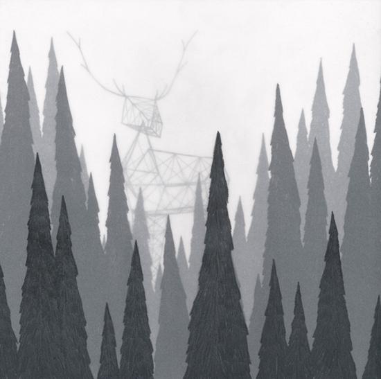 è il fermarsi a guardare un bosco e godere solo del buio che vi è all'interno, e della luce che permette di riflettersi sulle fitte vette.