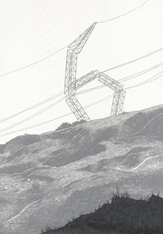 Jamie Mills ci mostra l'unione dell'illustrazione improvvisata e della perfezione geometrica del graphic design in modo sintetico ed efficace.