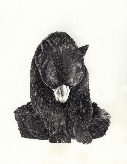 la forma dell'aria che un orso emette quando esprime qualche verso o quando il suo respiro si condensa (a lato)