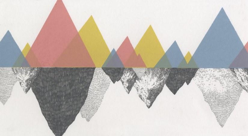 Larte concettuale di Jamie Mills non si ferma alla botanica si espande a esplorare nuovi livelli e piani, a dipingere una nuova dimensione delle montagne