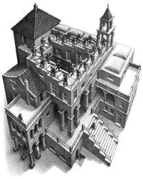 scale specchi illusioni ottiche questo è ciò che ci viene in mente quando nominiamo Escher ma cosa cè dietro
