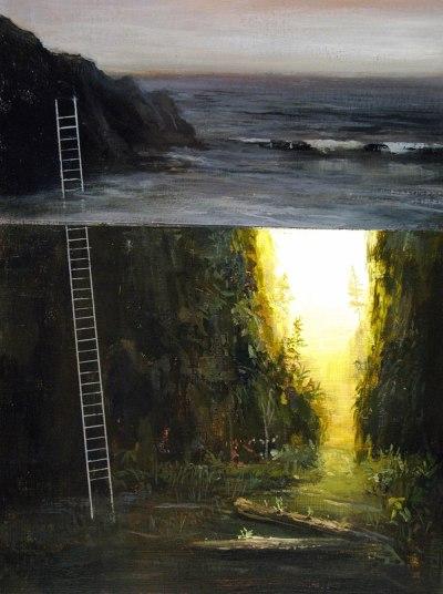 1 così come in queste opere si fondono più piani di vari mondi, allo stesso modo c'è una fusione fra stili pittorici
