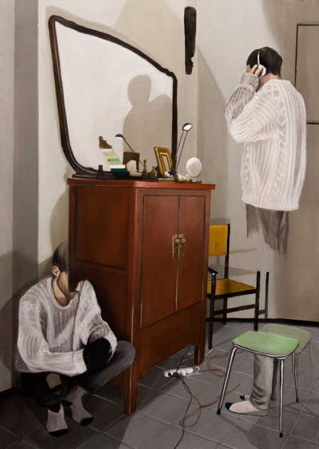 2 Non c'è spazio per il mondo esterno, c'è bisogno di un collage che sappia di umano, di movimento, frenesia, ansia, imbarazzo, squilibrio umorale