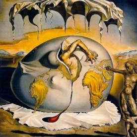 """""""Bambino geopolitico osservante la nascita di un uomo nuovo"""" di Dalì"""