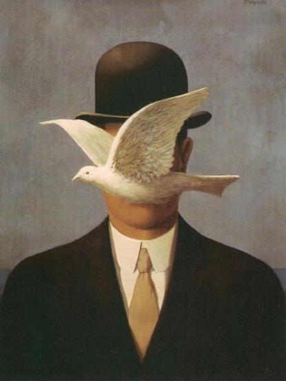 2 Magritte e il pittore di tutti quelli che si imbarazzano di fronte alle proprie idee, tanto che non hanno mai avuto il coraggio di riferirle a qualcuno. Nemmeno a loro stessi