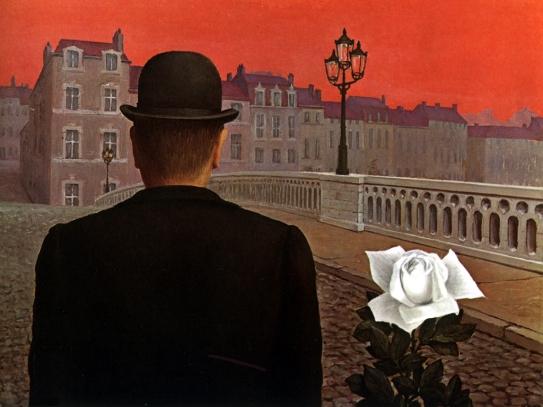 Magritte dipinge il tentativo di nascondere ciò che rende umani; il desiderio