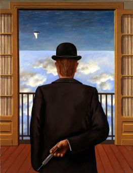 In the style of René Magritte. The Premonition of chaos [2]
