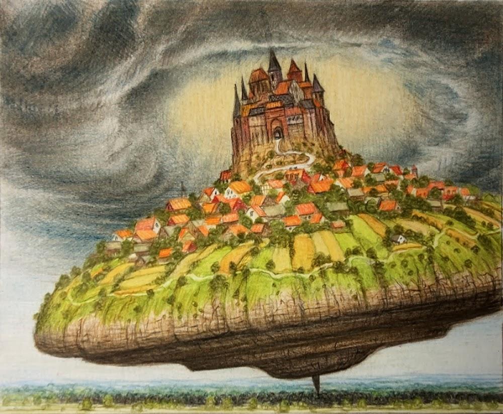 Con le opere di Yerka ci ritroviamo all'improvviso esploratori dell'immaginario, turisti di orizzonti onirici, pieni di dettagli stravaganti e di mille ostacoli lungo il percorso