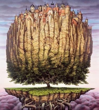 Questo artista è l'architetto di un'enorme realtà patafisica che spazia fra personaggi e paesaggi in stile studio Ghibli 1