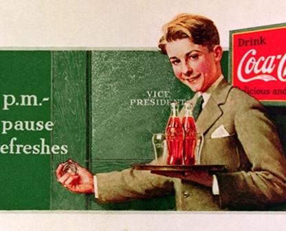 10.1 fra una pubblicità per la coca cola e un'altra per i cereali Kellog's, trasmettendo la dipendenza dalla nuova prosperità degli anni 50