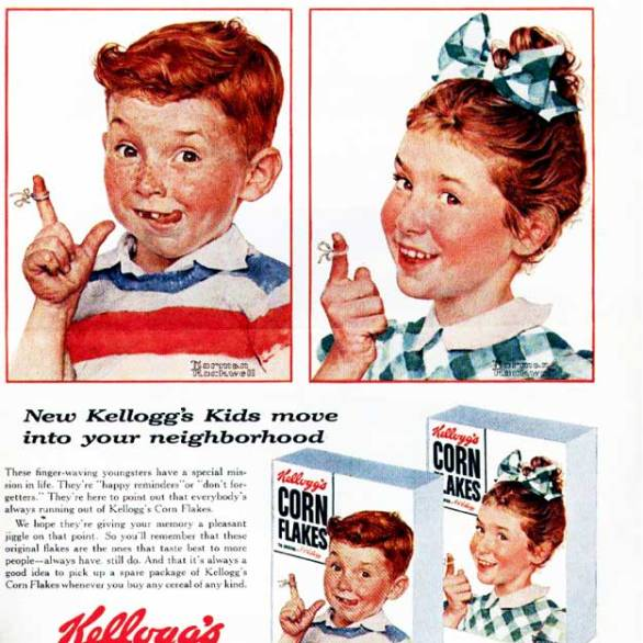 10.2 fra una pubblicità per la coca cola e un'altra per i cereali Kellog's, trasmettendo la dipendenza dalla nuova prosperità degli anni 50