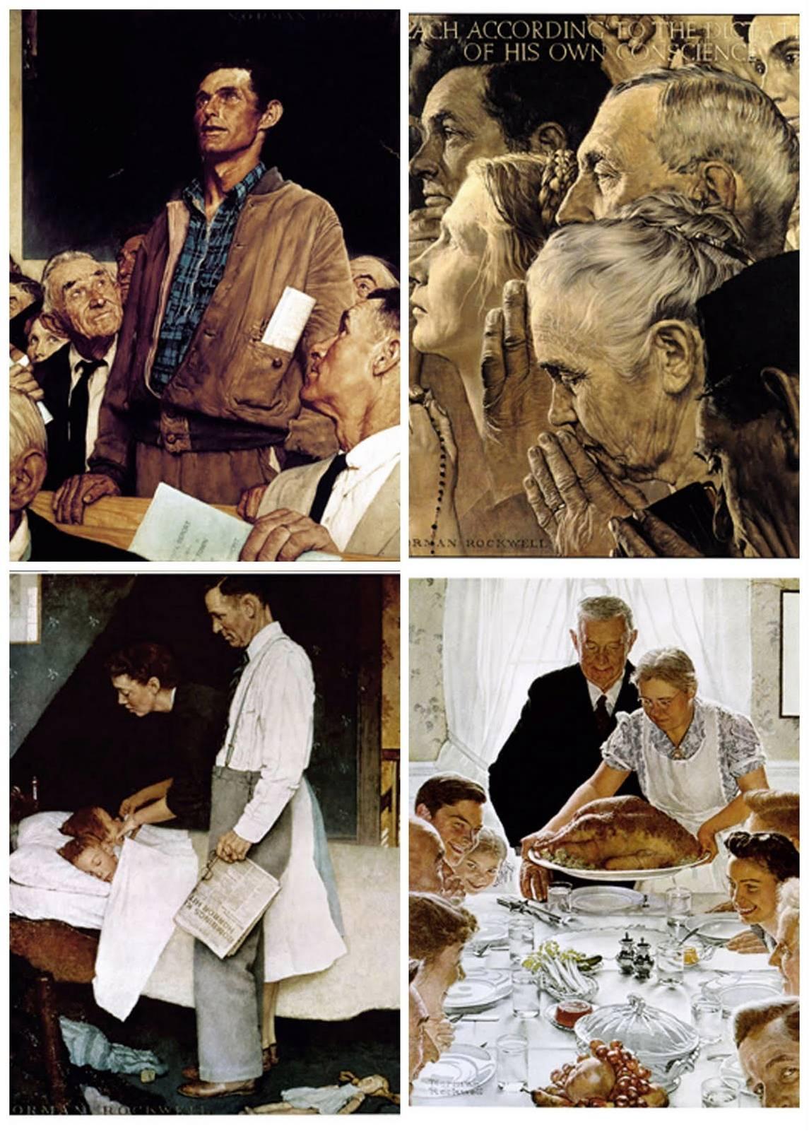 14.1 composto dalle 4 libertà che Roosevelt decanta, fatto di progresso e virtù,