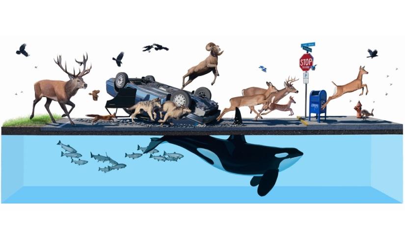 39mentre gli oceani inghiottiranno tutto nel loro blu incontaminato